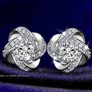 Silver earrings studs
